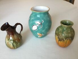 2 Vases and 1 Little Jug - Only 99p (33p each)