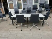 White Classic Boardroom Table
