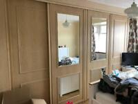 4 x big sliding wardrobe doors + tracks GONE STC