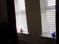 Privacy wood venetian blinds - pure white