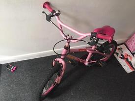 Girls pink bike, few marks but works fully
