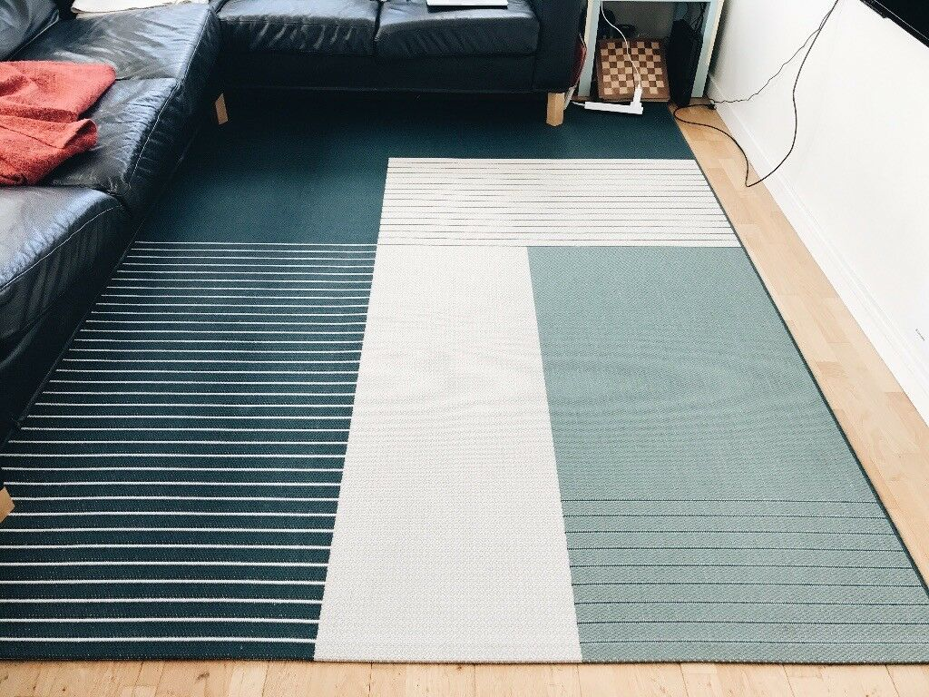 roskilde rug ikea blue and beige in newcastle tyne and wear gumtree. Black Bedroom Furniture Sets. Home Design Ideas
