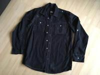 Black long sleeved buttoned shirt age 12