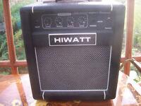 Hiwatt Maxwatt Hurricane Bass Guitar Amplifier.