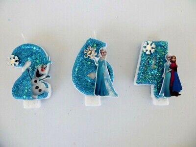 Frozen, Elsa, Anna, Olaf, Frozen Fever Birthday Candle. cake, cupcake - Frozen Cupcake Topper