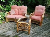 Wicker sofa set/conservatory