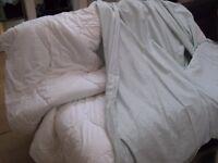 JOHN LEWIS 10.5 tog DUVET + Egyptian Cotton 400-thread DUVET COVER