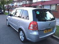 2008 Vauxhall Zafira 1.9 L SRI with live PCO , 1 YEAR MOT , 7 Seaters