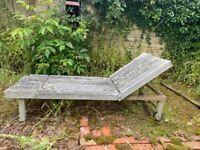 Teak wooden garden loungers