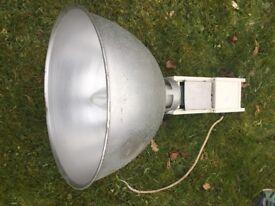 Retro style aluminium large lampshade