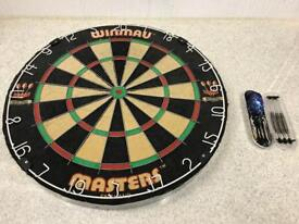 Winmau Dart Board and Unicorn Tungsten Darts