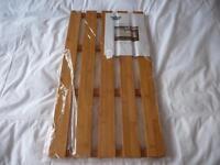 New bamboo wood rectangular duckboard bath/shower mat.