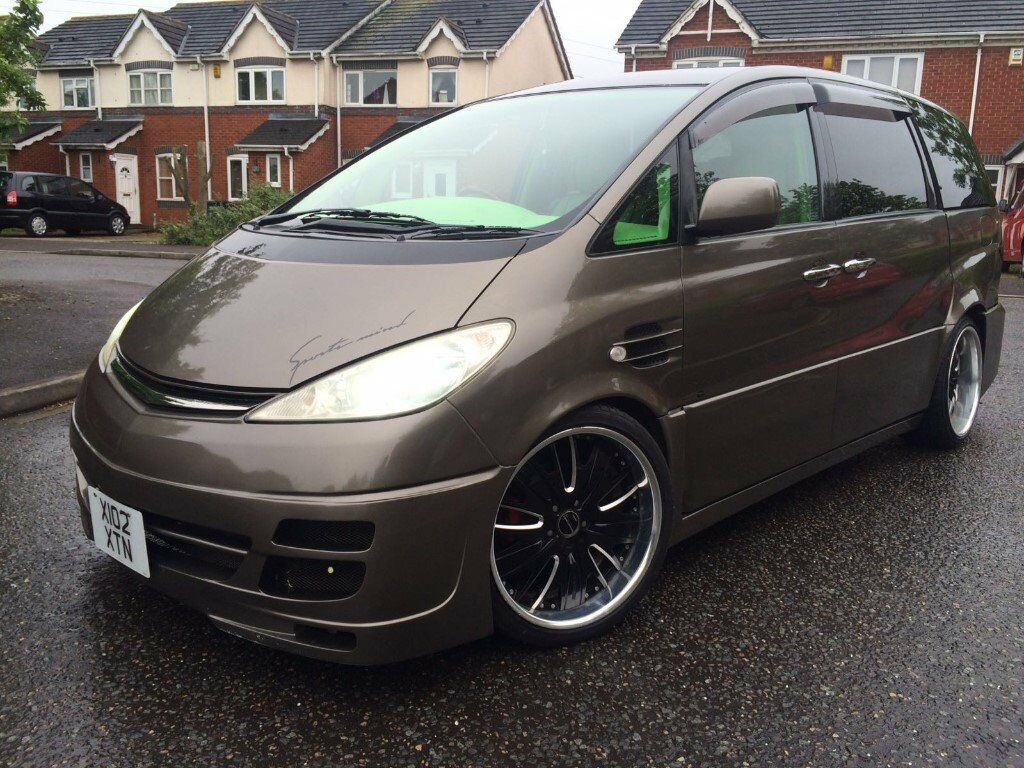 toyota previa estima modified stanced showcar in. Black Bedroom Furniture Sets. Home Design Ideas