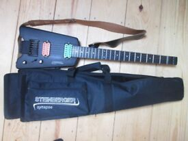 Black Steinberger Synapse SS-2F with customised Dimazio pickups (made by Gibson)