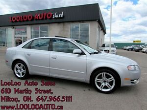 2007 Audi A4 2.0T Turbo 6 Speed Quattro Certified 2 YR Warranty