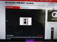 Rare Arcaydis SM 35 speakers based on ls3/5a design Excellent Sound As New Boxed