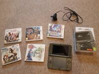 """3DS XL """"New Version"""" Plus 5 games, Charger and Case"""