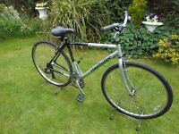 "NICE CLAUDE BUTLER CLASSIC GENTS HYBRID BIKE 21""ALLOY FRAME 21 SPEED SERVICED"
