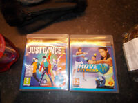 ps3 just dance 17 and move fitness plus move controller and camera