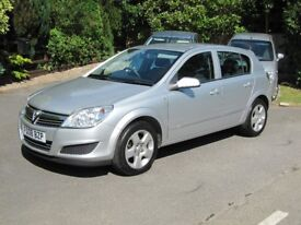 VERY LOW MILEAGE 2008 ASTRA 1.6 CLUB 5-DR, NEW MOT, S.H, 57MPG, JUST SERVICED, PART-EXCHANGE WELCOME