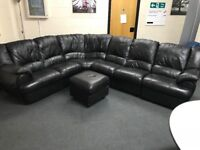 Leather Corner Sofa with Recliners *NOT FREE read description