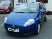 06/06 Fiat Grande Punto 1.4 Dynamic 3dr, Metallic Blue.**12m MOT, New Timing Belt**