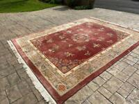 Extra Large Authentic Chinese Thick Wool Rug 12' X 9'
