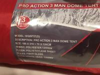 Pro Action 3 Man Dome Tent