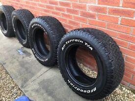 BF GOODRICH All Terrain Tyres. Set of 4 265 / 70 R17