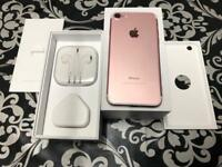 iPhone 7 128gb Rose Gold colour Unlocked