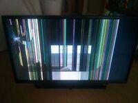 32 inch Toshiba TV and DVD combo. BROKEN SCREEN
