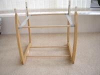 Mamas & Papas wooden rocking Moses basket/crib stand