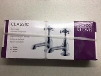 Cooke & Lewis classic basin taps + bath / shower mixer. As seen and bought in B&Q