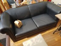 Black leather sofa good condition fred you pick it up.