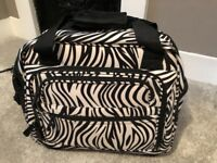 Cool black / white striped wheely laptop bag and carry case!