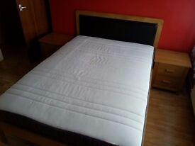 Double Bed mattress and 2 bedside tables