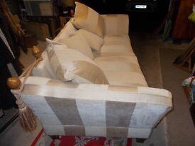 Beautiful bespoke drop arm sofa IMMACULATE
