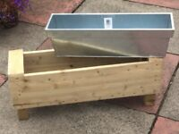 Wooden Planter with a Zinc insert