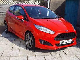 2012 62 Ford Fiesta ZetecS 1.6TDCi, Latest Shape, £0 Road Tax, Bluetooth, Service History, Beautiful