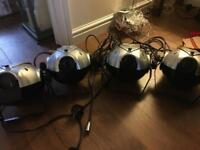 4x moonmaster disco lights ( possibly faulty)