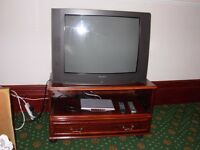 Free 27 inch colour TV with Freeview digibox and remote controls - perfect working order