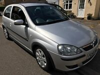 Vauxhall Corsa SXI 1299cc Petrol 5 speed manual 3 door hatchback 55 Plate 29/11/2005 Silver