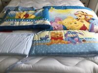 AS NEW WINNIE THE POOH COT BEDDING