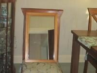 Pine Effect Mirror 35x55cm Good condition