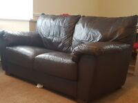 Free Brown Faux Leather Couch