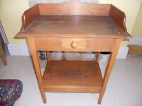 Authentic Vintage Wooden Washstand, Cabinet, Dresser.
