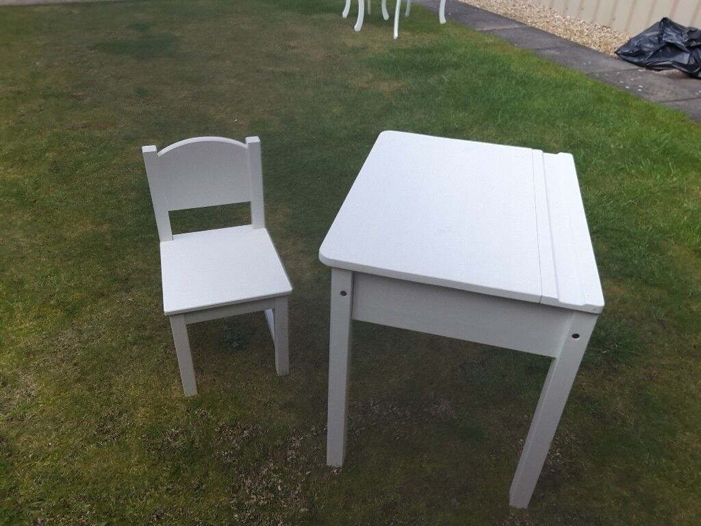 Ikea Childrens White Desk And Chair