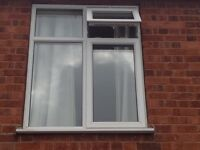 WHITE UPVC DOUBLE GLAZED WINDOW, fully working, frame glass cill - LEICESTER (can deliver locally)