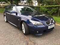 2008 BMW 525D LCi Auto Tiptronic, Touring, M-Sport SERVICE HISTORY, NATIONWIDE DELIVERY AVAILABLE