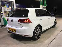 2013 63 Vw Golf 2.0 Gt Tdi BlueMotion Mk7 Huge Spec Sat Nav Low Mileage Only 57K Rare Colour